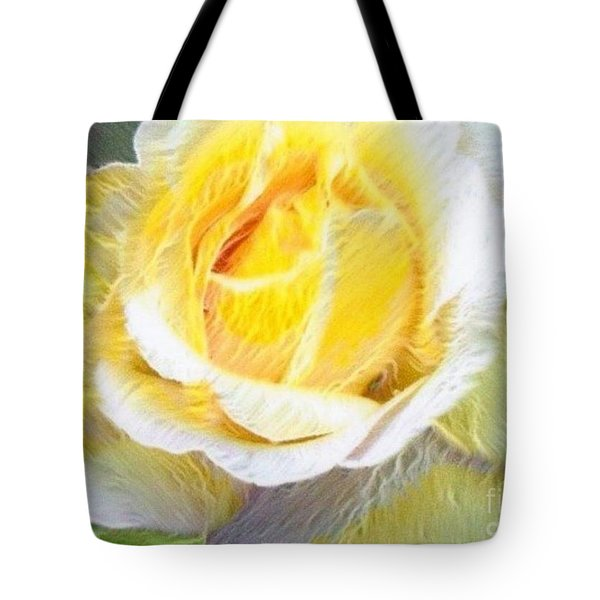 Softly Blooming Rose Tote Bag by AE Hansen