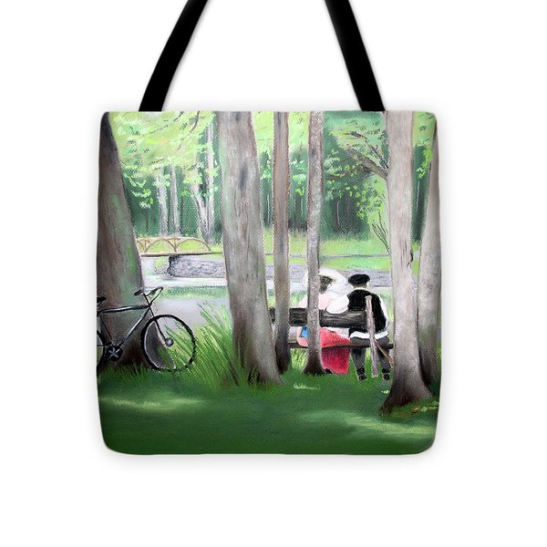 Solace In The Park Tote Bag by Barbara Gulotta