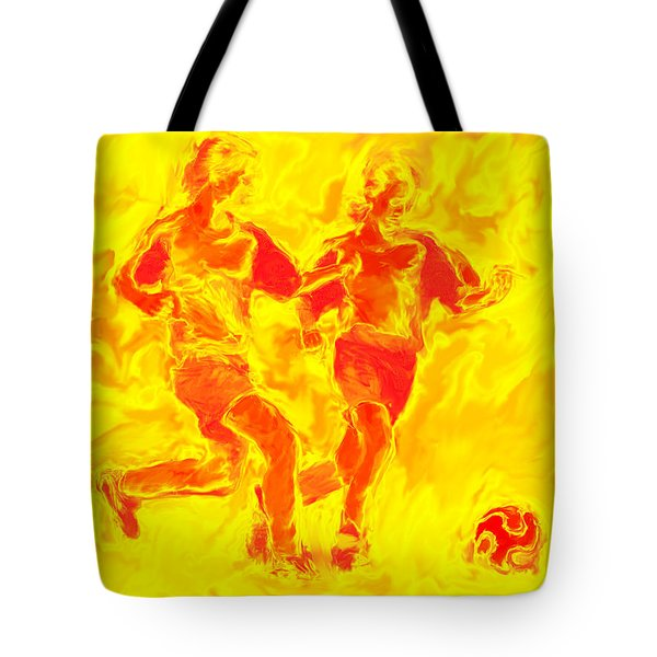 Solar Soccer Tote Bag by Stephen Younts