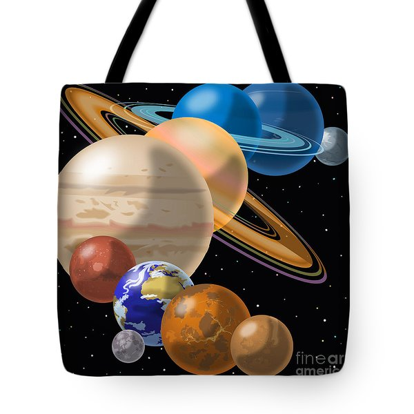 Solar System Tote Bag by Mark Giles and Photo Researchers