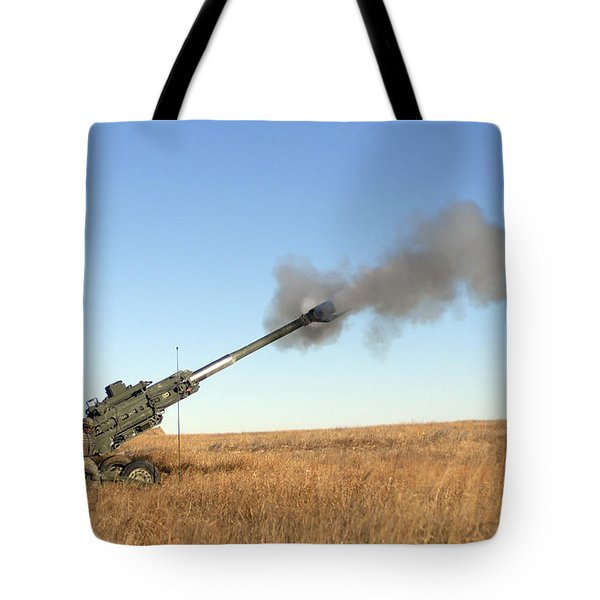 Soldiers Fire A 155mm M777 Lightweight Tote Bag by Stocktrek Images