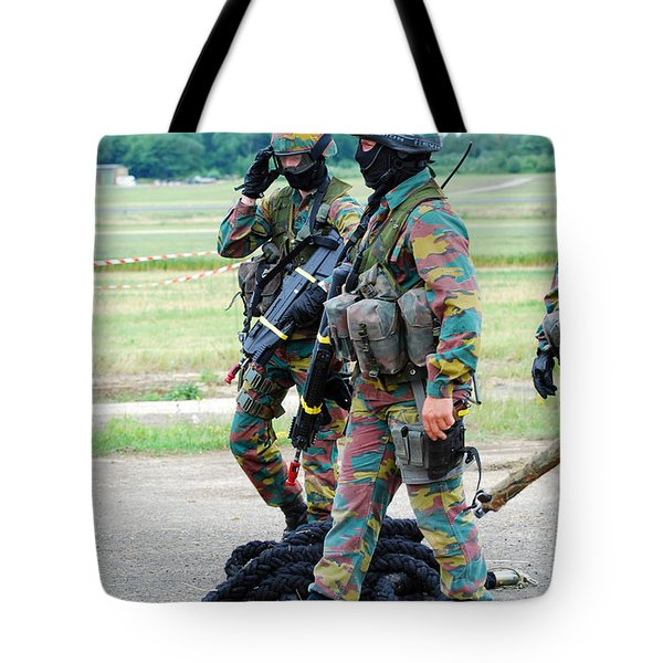 Soldiers Of The Special Forces Group Tote Bag by Luc De Jaeger