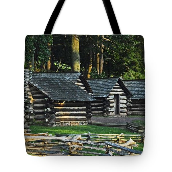 Soldiers Quarters At Valley Forge Tote Bag by Cindy Manero