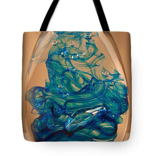 Solid Glass Sculpture E10 Tote Bag by David Patterson