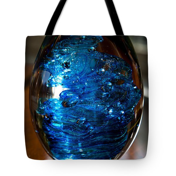 Solid Glass Sculpture E7 Tote Bag by David Patterson
