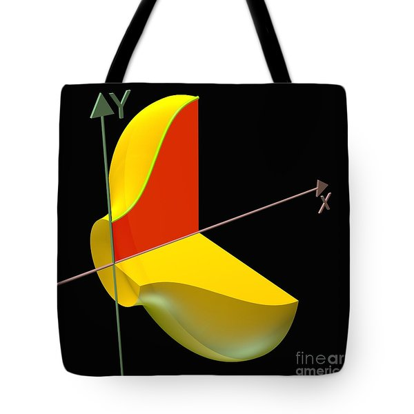 Tote Bag featuring the digital art Solid Of Revolution 1 by Russell Kightley