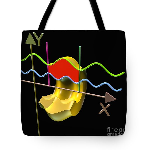 Tote Bag featuring the digital art Solid Of Revolution 3 by Russell Kightley