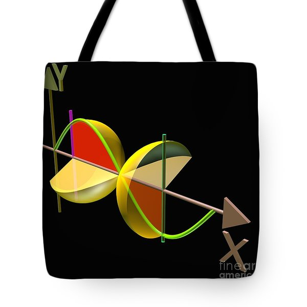 Tote Bag featuring the digital art Solid Of Revolution 5 by Russell Kightley
