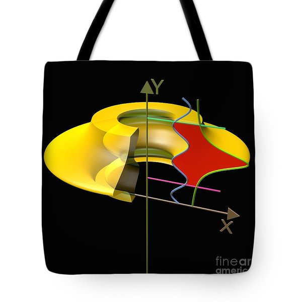 Tote Bag featuring the digital art Solid Of Revolution 6 by Russell Kightley