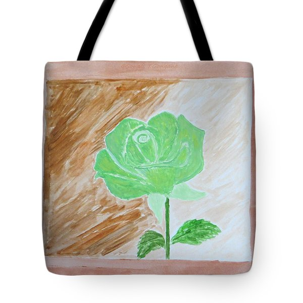 Tote Bag featuring the painting Solitary Rose by Sonali Gangane