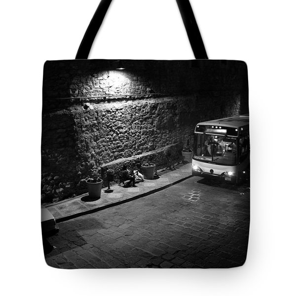 Solitary Wait Tote Bag by Lynn Palmer