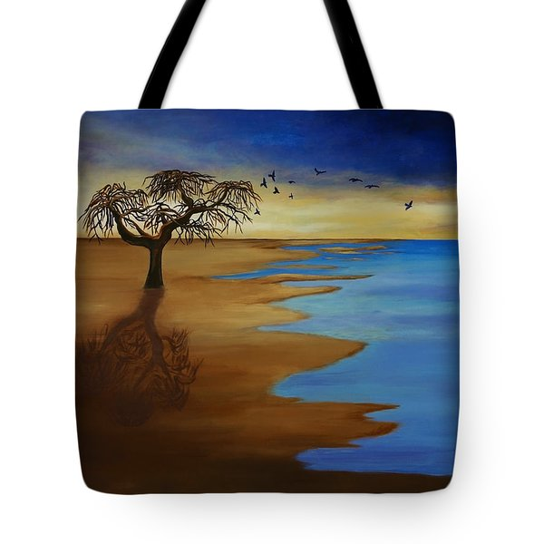 Tote Bag featuring the painting Solitude by Michelle Joseph-Long