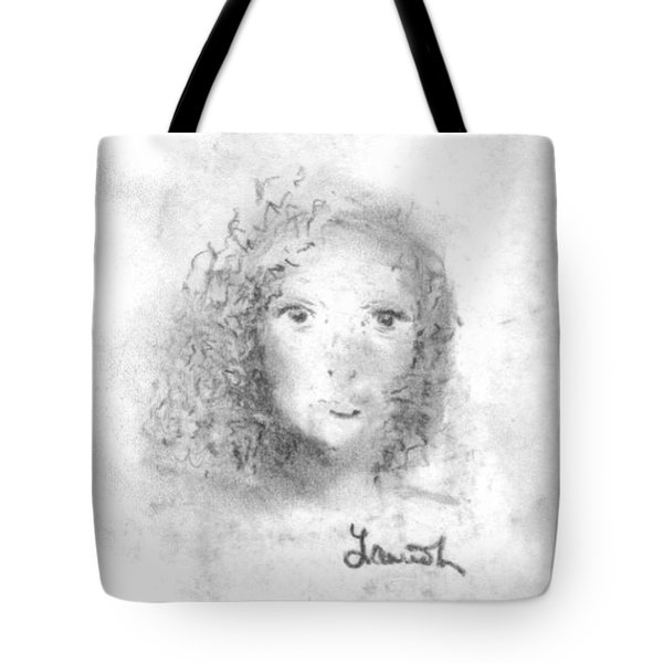 Tote Bag featuring the drawing Something About Mary by Laurie Lundquist