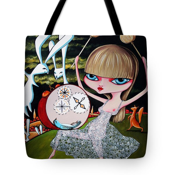 Tote Bag featuring the painting Something To Bang On About by Leanne Wilkes