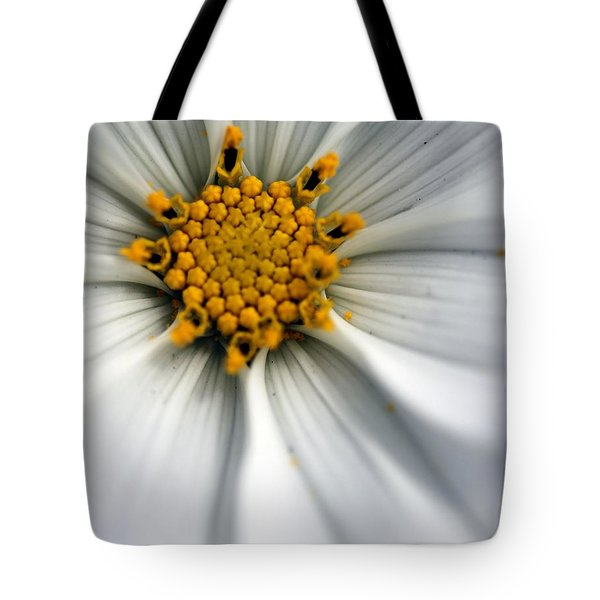 Tote Bag featuring the photograph Sonata Cosmos White by Henrik Lehnerer
