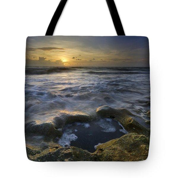 Song Of The Sea Tote Bag by Debra and Dave Vanderlaan