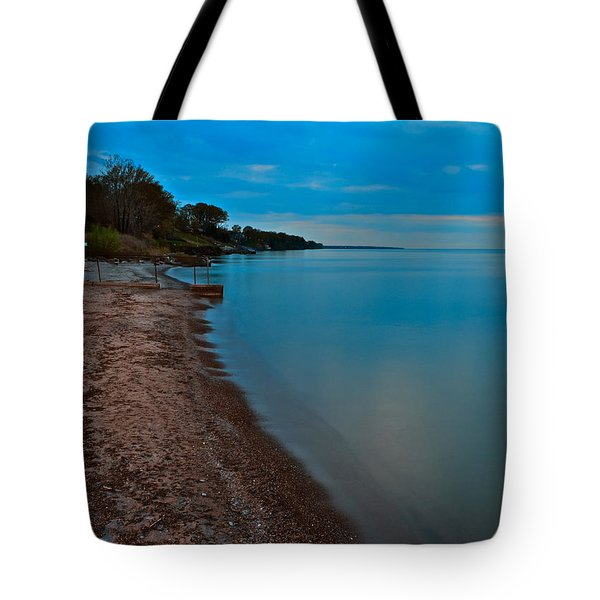Soothing Shoreline Tote Bag by Frozen in Time Fine Art Photography