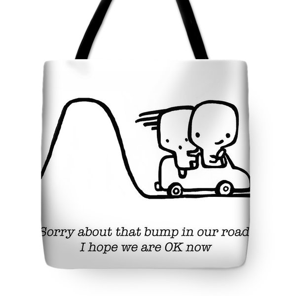 Tote Bag featuring the drawing Sorry by Leanne Wilkes