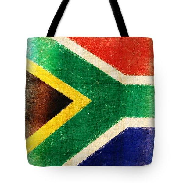 South Africa Flag Tote Bag by Setsiri Silapasuwanchai