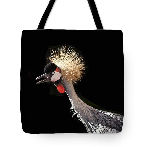 South African Grey Crowned Crane Kaanapali Maui Hawaii Tote Bag by Sharon Mau