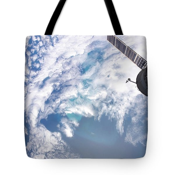 South Atlantic Plankton Bloom Tote Bag by Stocktrek Images