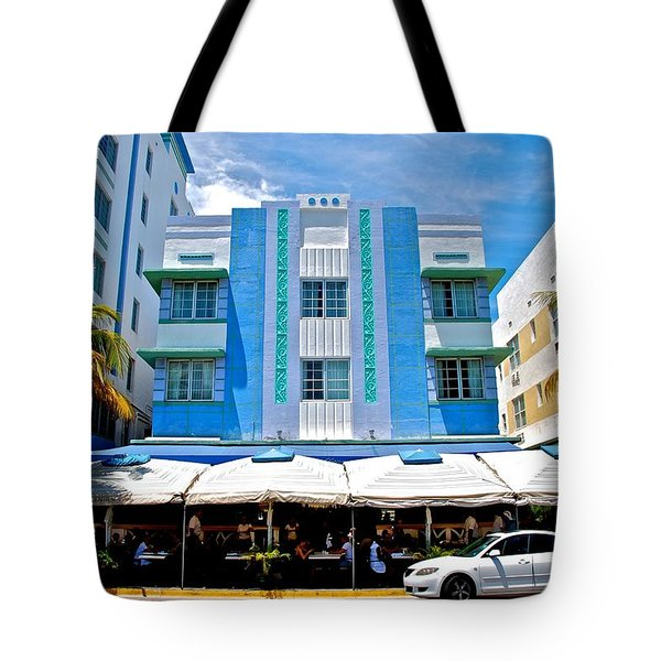 South Beach The Blue Section Tote Bag by Eric Tressler
