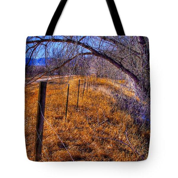 South Platte Fenceline Tote Bag by David Patterson