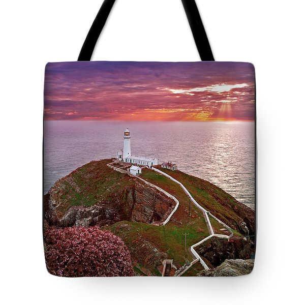 Tote Bag featuring the photograph South Stack Lighthouse by Beverly Cash