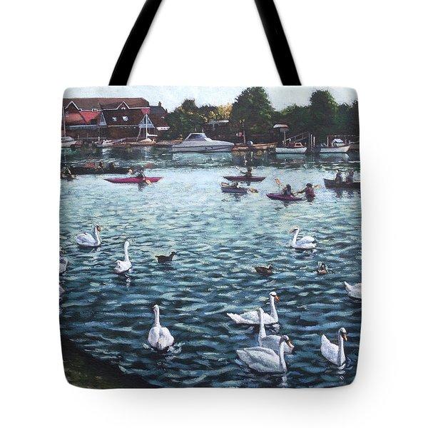 Southampton Riverside Park River Itchen Tote Bag by Martin Davey