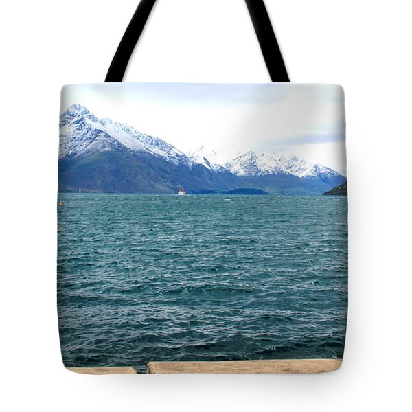 Tote Bag featuring the photograph Southern Alps Across Lake Wakatipu by Laurel Talabere
