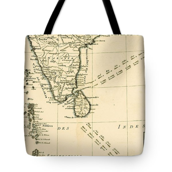 Southern India And Ceylon Tote Bag by Guillaume Raynal