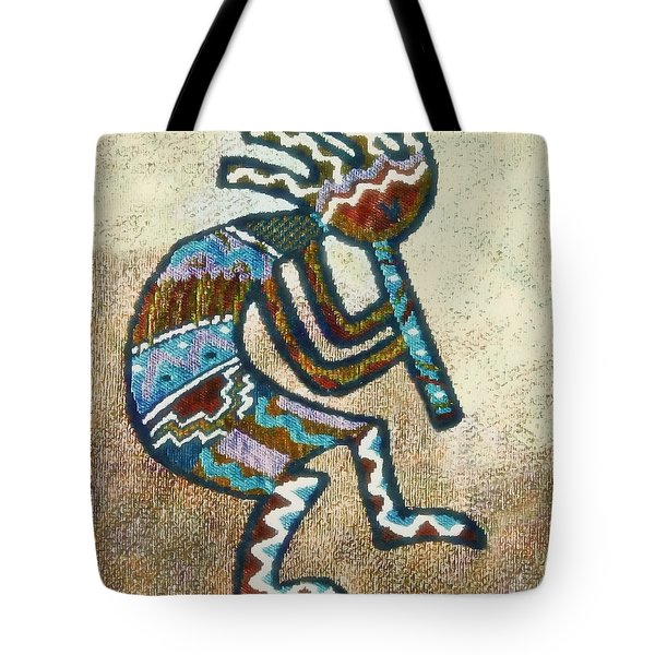 Tote Bag featuring the photograph Southwestern Style Kokopelli  by Susan Leggett