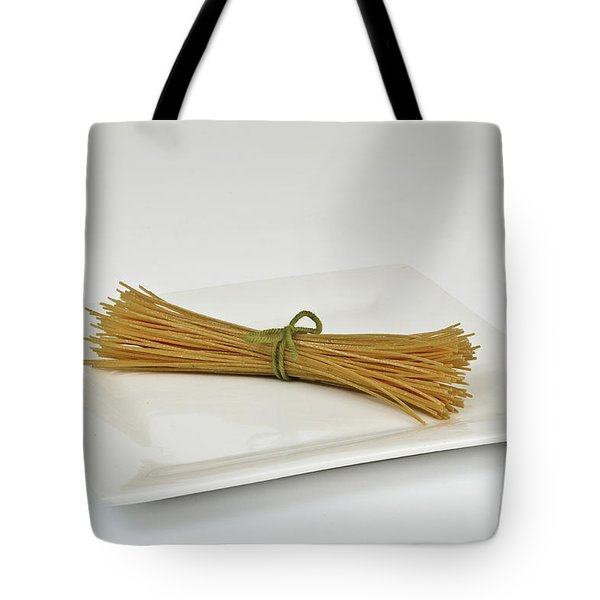 Soybean Spaghetti Tote Bag by Photo Researchers