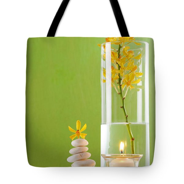 Spa Concepts With Green Background Tote Bag by Atiketta Sangasaeng