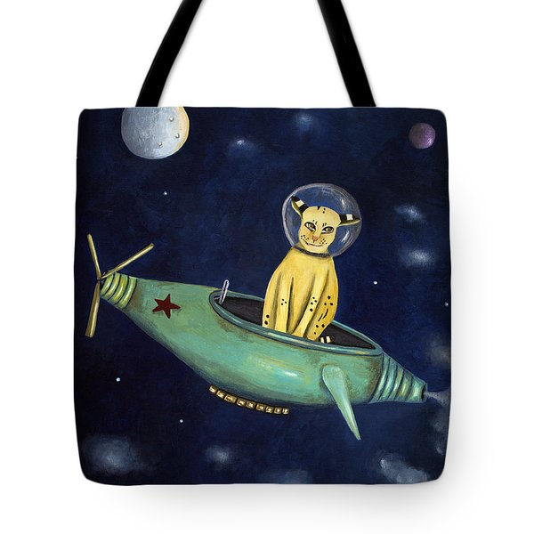 Space Bob Tote Bag by Leah Saulnier The Painting Maniac
