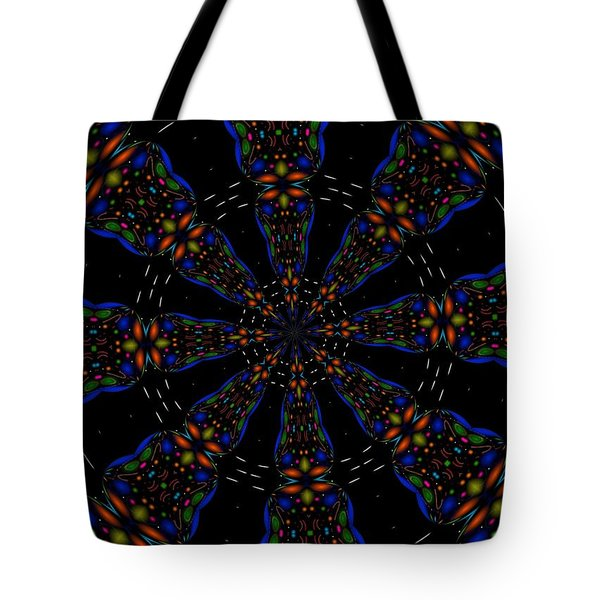 Tote Bag featuring the digital art Space Flower by Alec Drake