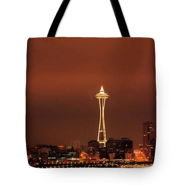 Space Needle Morning Tote Bag