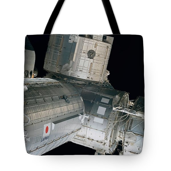 Space Shuttle Discovery And Components Tote Bag by Stocktrek Images