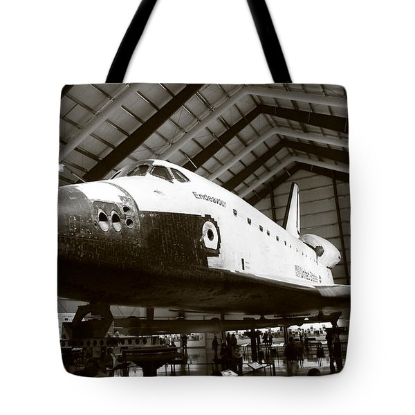 Space Shuttle Endeavour Tote Bag by Nina Prommer