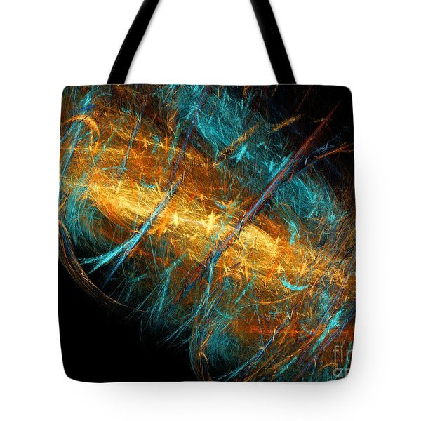Space Storm Tote Bag by Andee Design