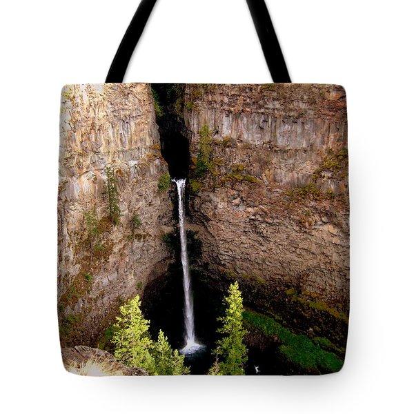 Spahats Creek Falls Tote Bag by Kathy Bassett