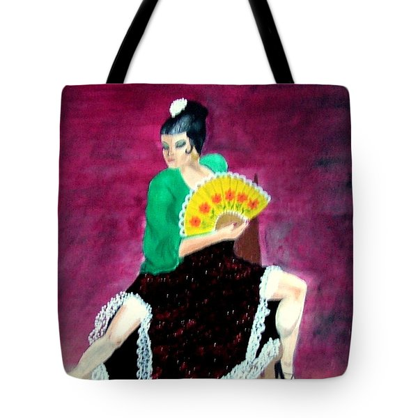 Spanish Dancer Tote Bag
