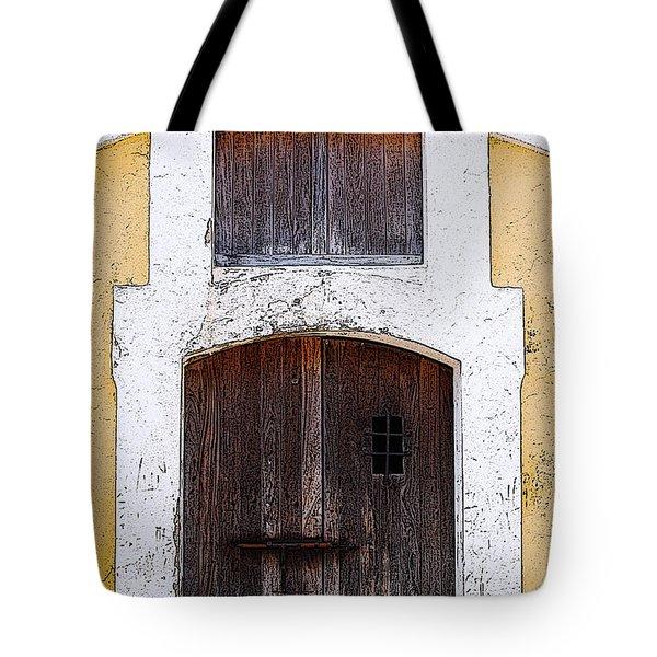 Spanish Fort Door Castillo San Felipe Del Morro San Juan Puerto Rico Prints Poster Edges Tote Bag by Shawn O'Brien