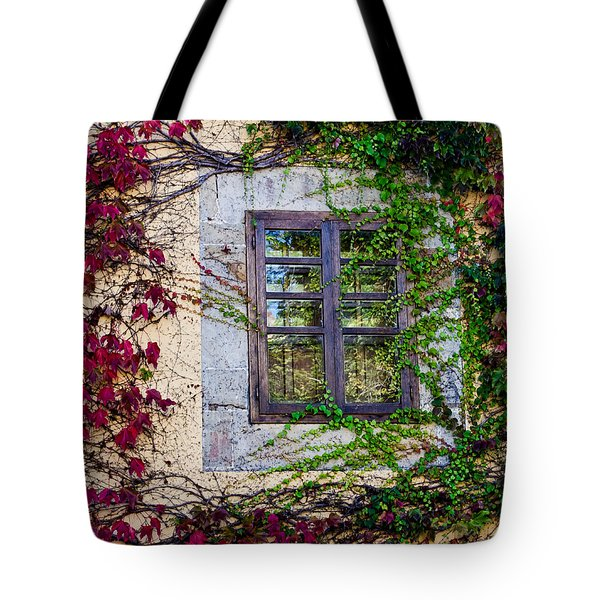 Tote Bag featuring the photograph Spanish Window by Don Schwartz
