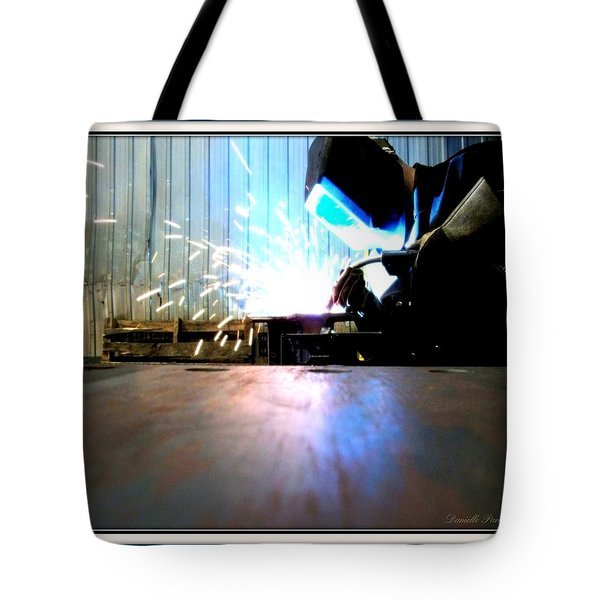 Tote Bag featuring the photograph Sparks by Danielle  Parent