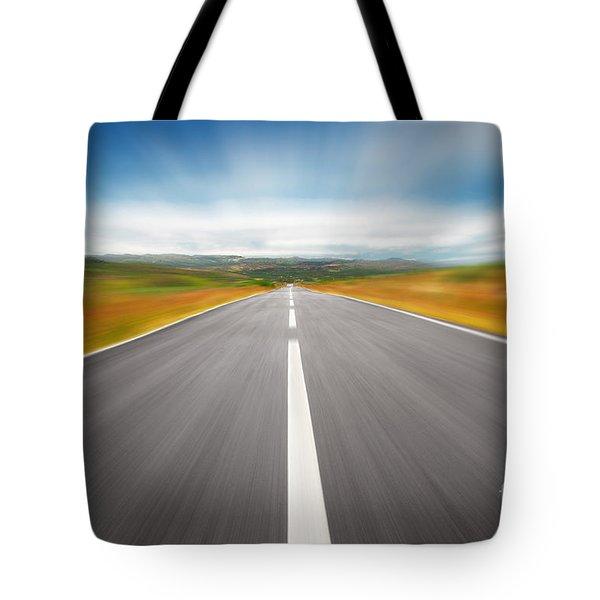 Speedyway Tote Bag by Carlos Caetano