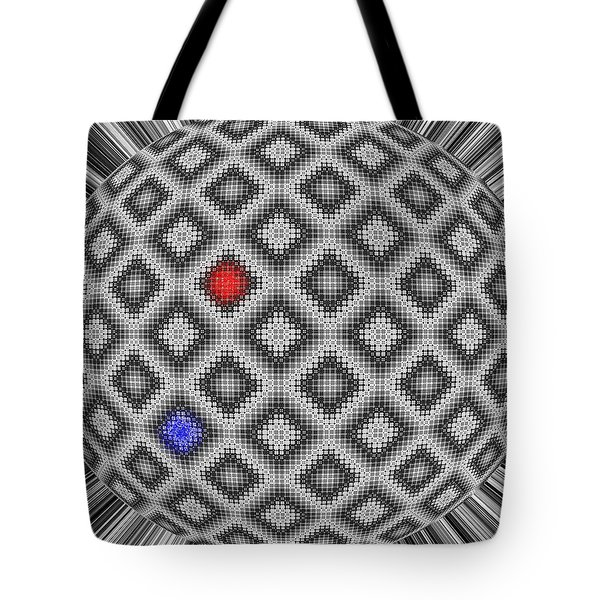 Tote Bag featuring the digital art Sphere Number 10 by George Pedro