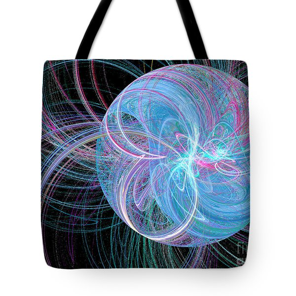 Tote Bag featuring the digital art Spherical Symphony by Kim Sy Ok