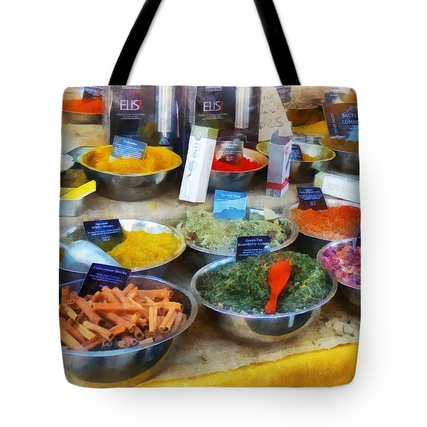 Spice Stand Tote Bag by Susan Savad