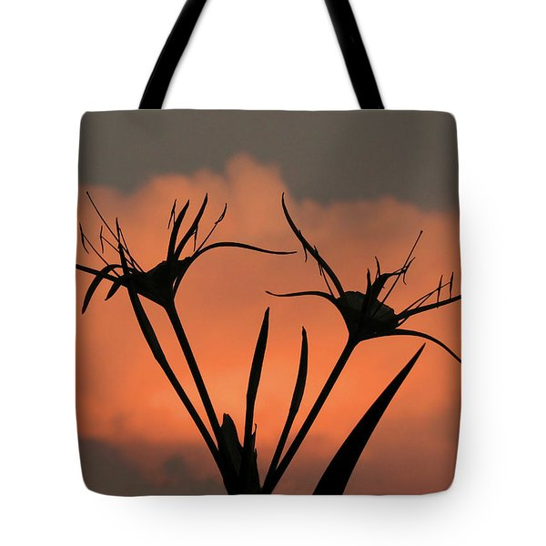 Spider Lilies At Sunset Tote Bag